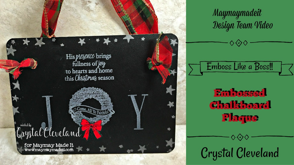 Embossed Joy Chalk Board by Crystal Cleveland