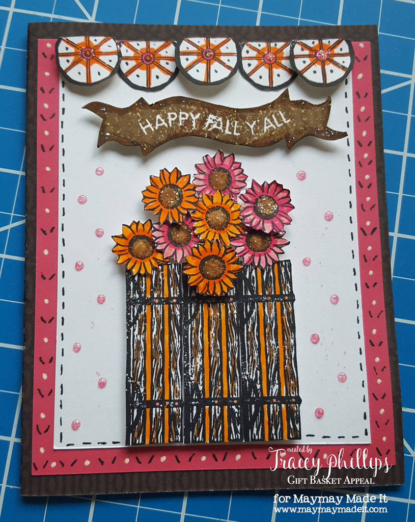 Fall Flower Card and Color Challenge