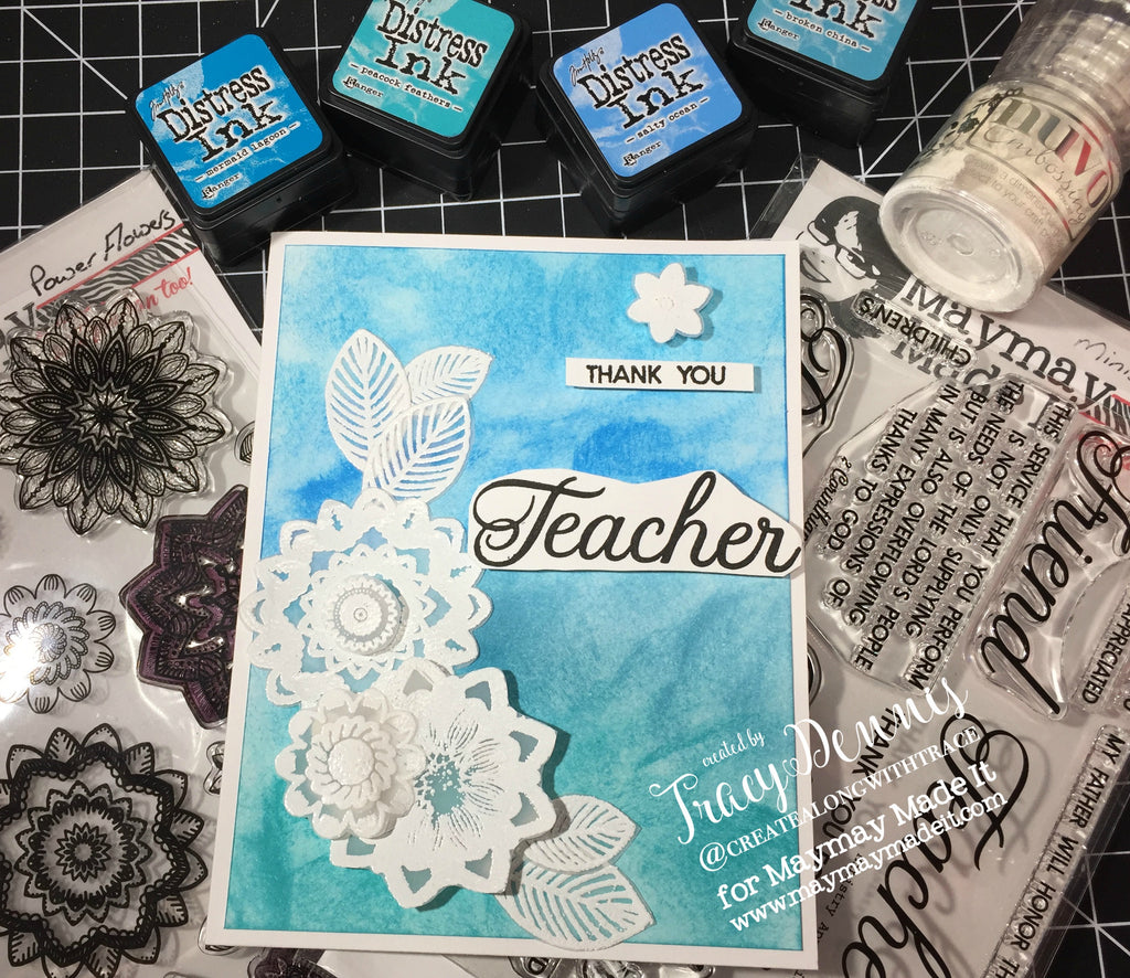 Vellum Embossed Teacher's Appreciation Card