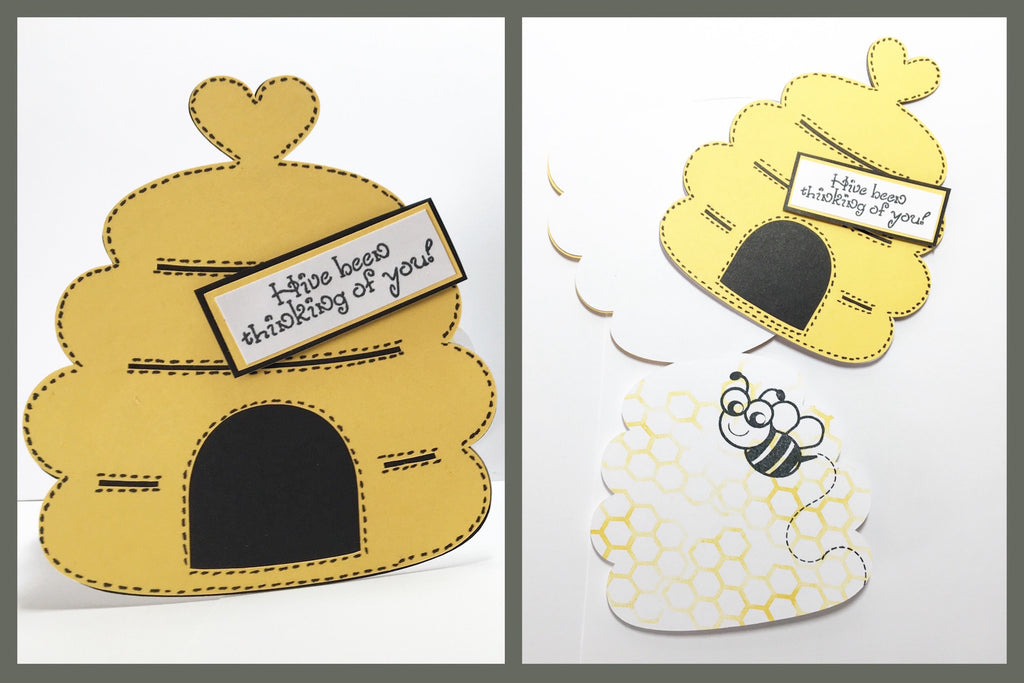 Beehive Shaped Card