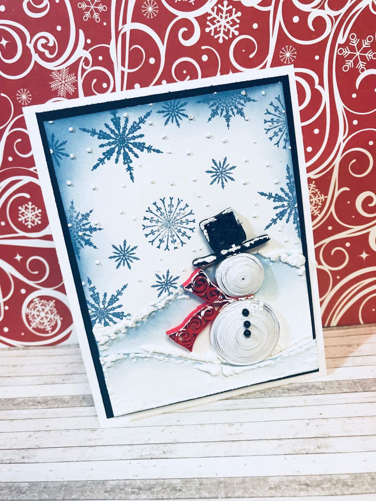 Quilled Snowman Card