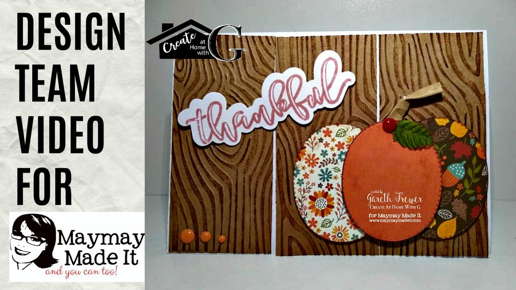 Pallet Pumpkin Thankful Card