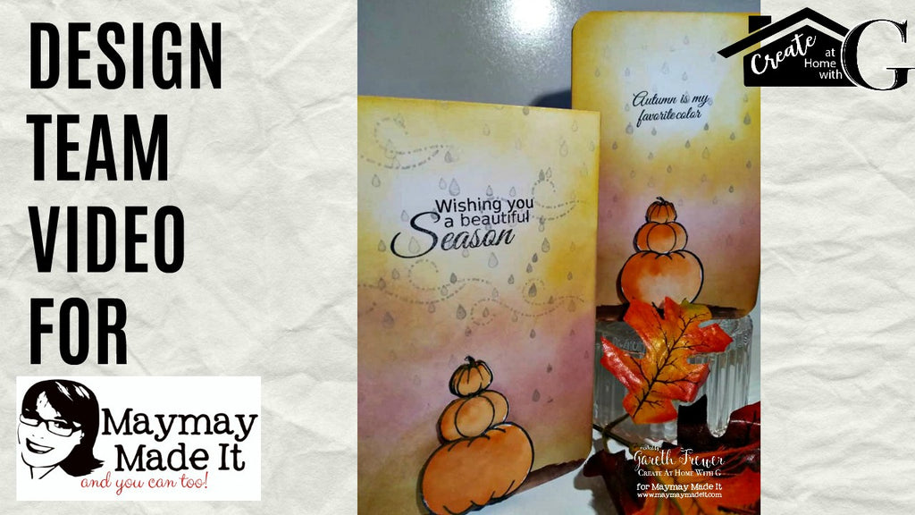 Autumn||Fall Stacked Pumpkin Card