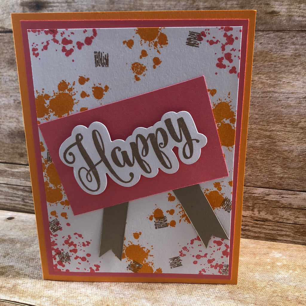Blog Design Team Color Throw Down Challenge - Happy Card