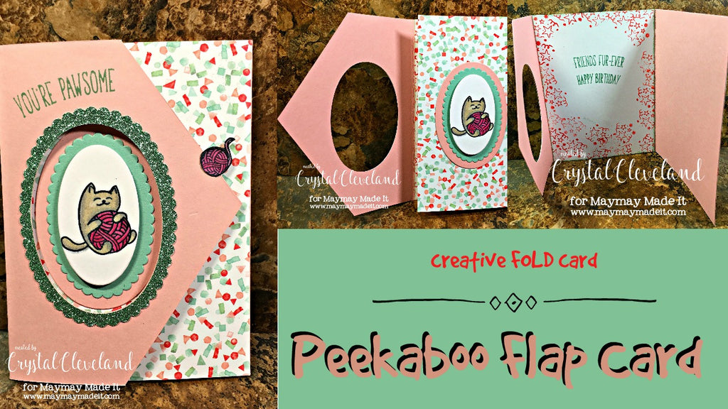 Design Team Challenge/Fancy Fold Card/ Peekaboo Flap Card
