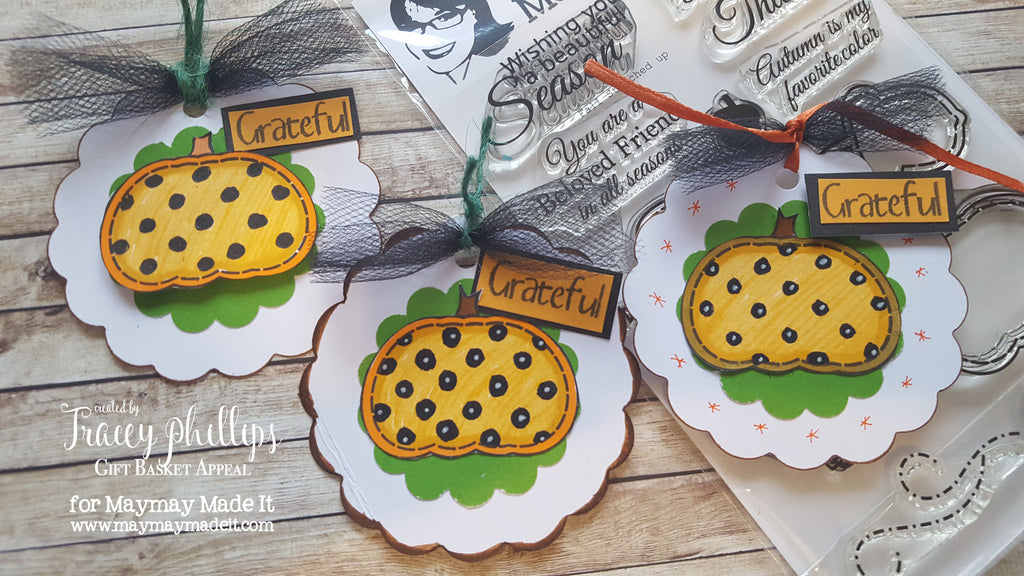 Pumpkin Tag Embellishments | Blog Design Team