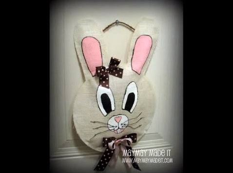 Burlap Bunny Door Hanger Tutorial with Free Pattern