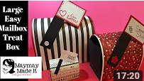 Large Valentine's Day Treat  Mailbox