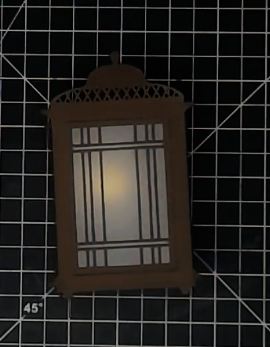 3D Lantern with Tea Light from a Die
