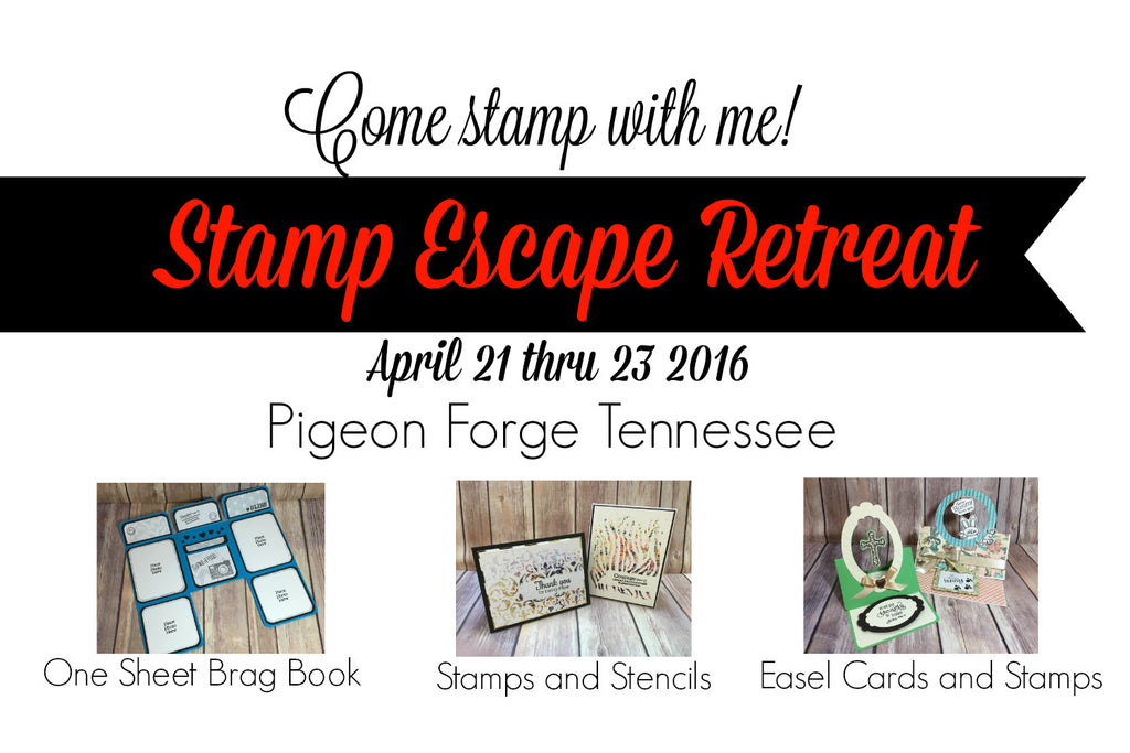 Stamp Escape Retreat, Come Stamp with Me!
