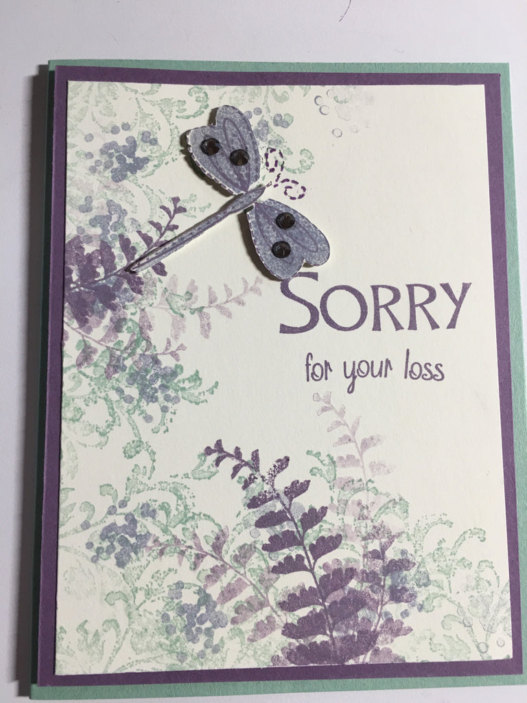 Dragonfly Sympathy Card by Crystal Cleveland