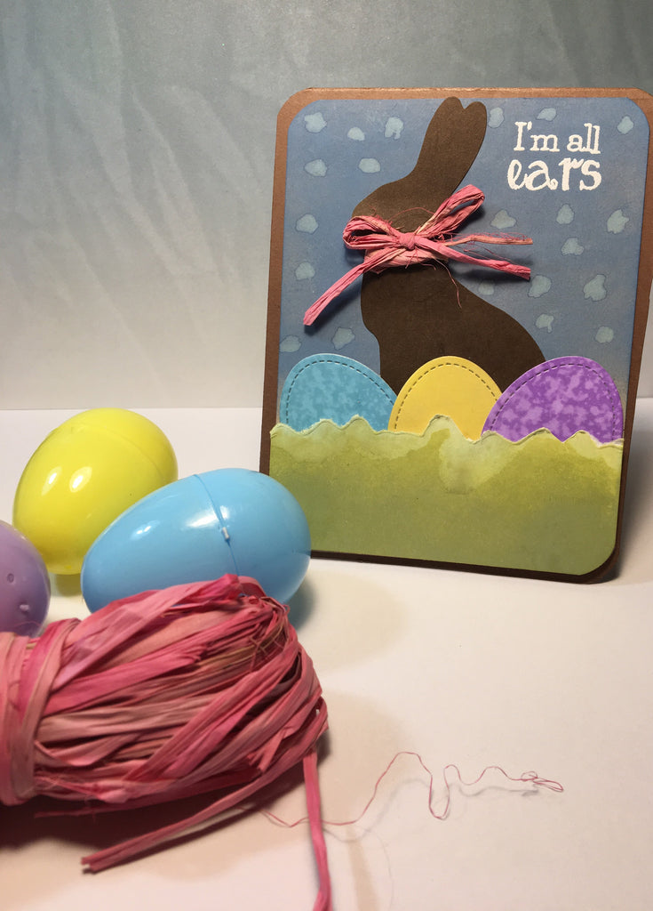 Chocolate Easter Rabbit Card