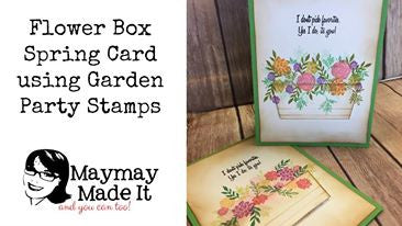 Flower Box Card Quick and Easy