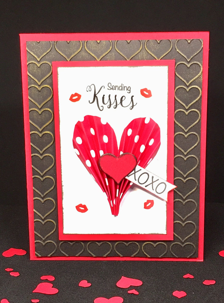 Fan Fold Heart Card by Crystal Cleveland