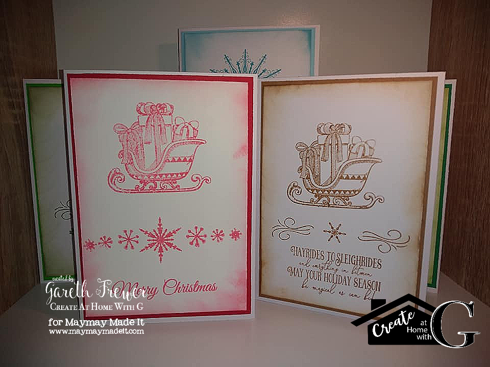 Easy To Mass Produce One Colour Christmas Cards