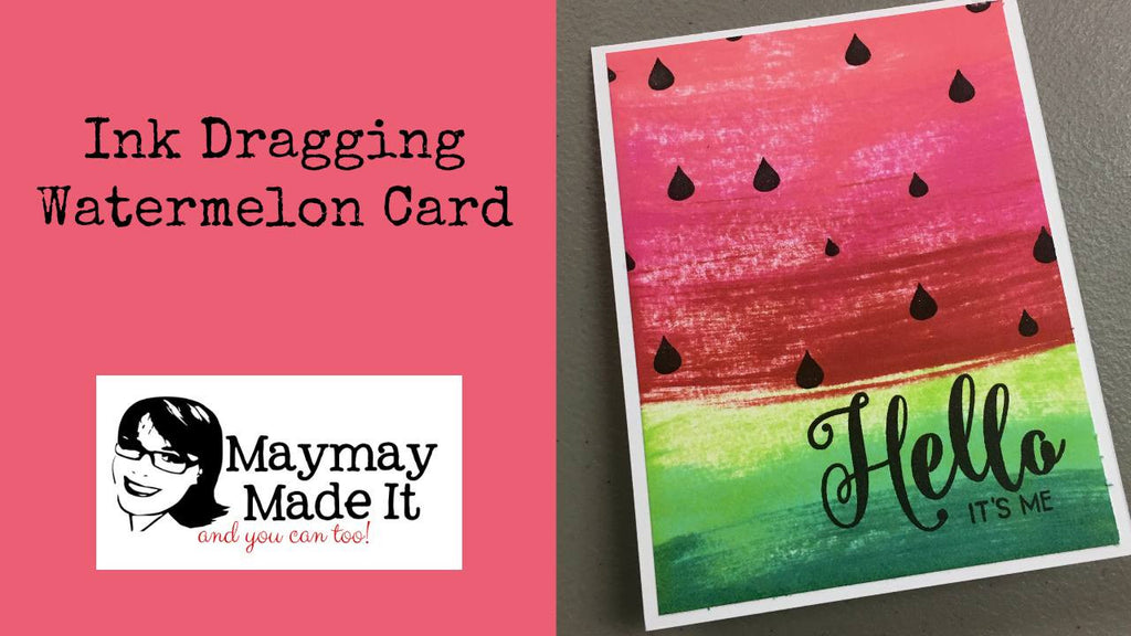 Ink Dragging Watermelon Card