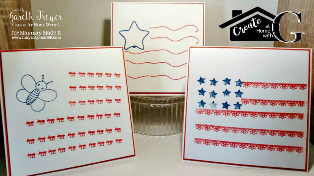 Patriotic 4th Of July Note Cards