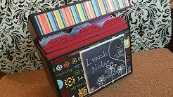 Lunch Notes Box or Greeting Card Holder