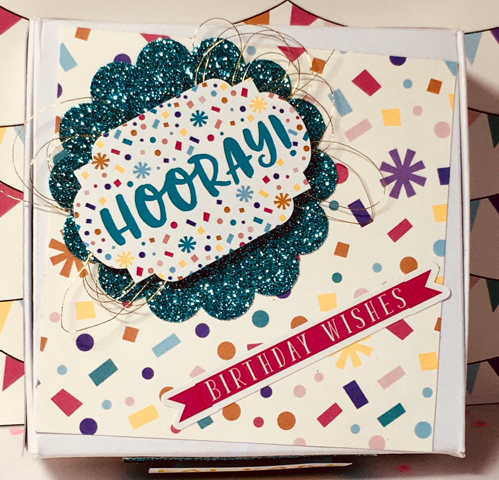 Mini Birthday Pizza Box by Crystal Cleveland