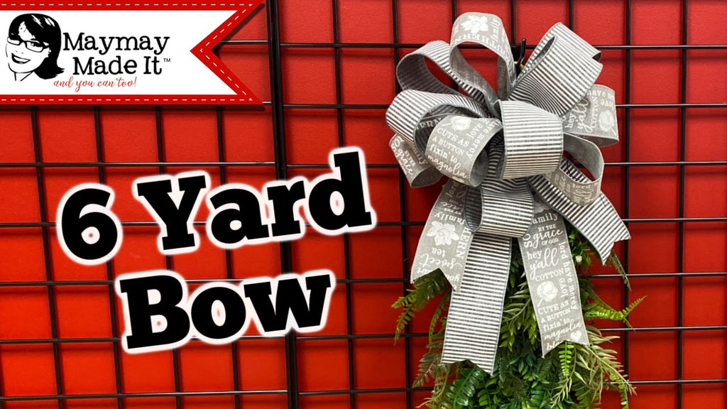 6 Yard Two Ribbon Bowdabra Bow