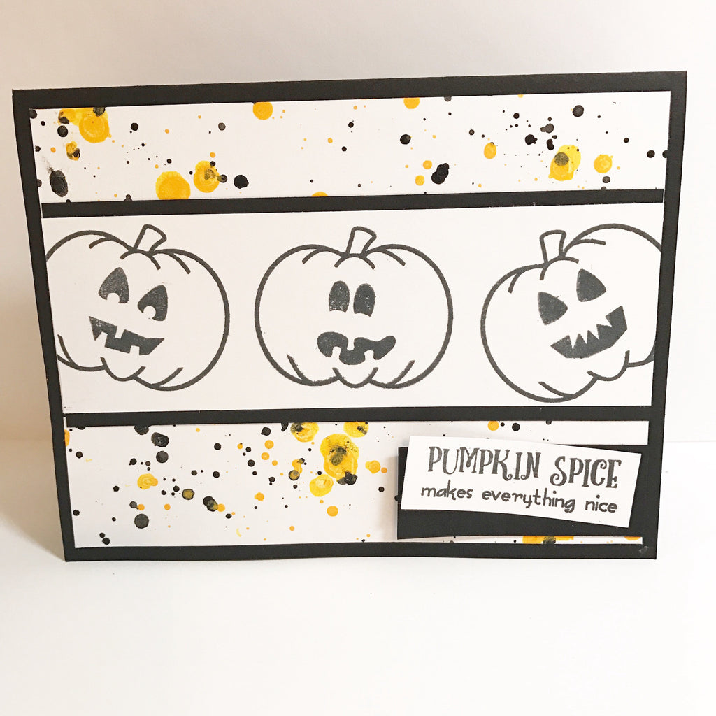 Splattered Halloween Card