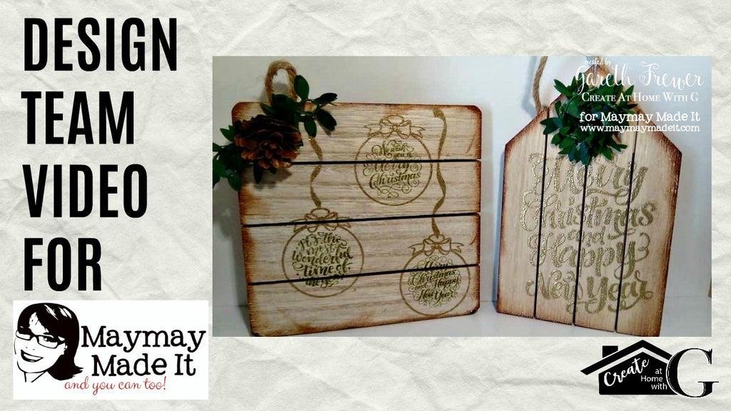 Rustic Wooden Pallet Christmas Tree Ornaments