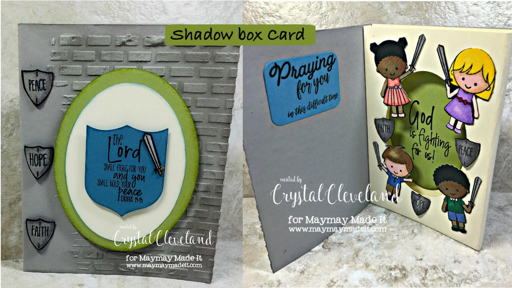 Blog Design Team Fancy Fold Cards~Shadow Box Card by Crystal Cleveland