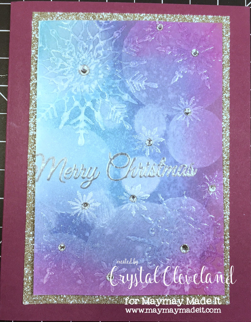 Snowflake Bokeh Christmas Card by Crystal Cleveland