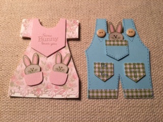 Spring Dress and Bib Overalls Cards by:  Crystal Cleveland