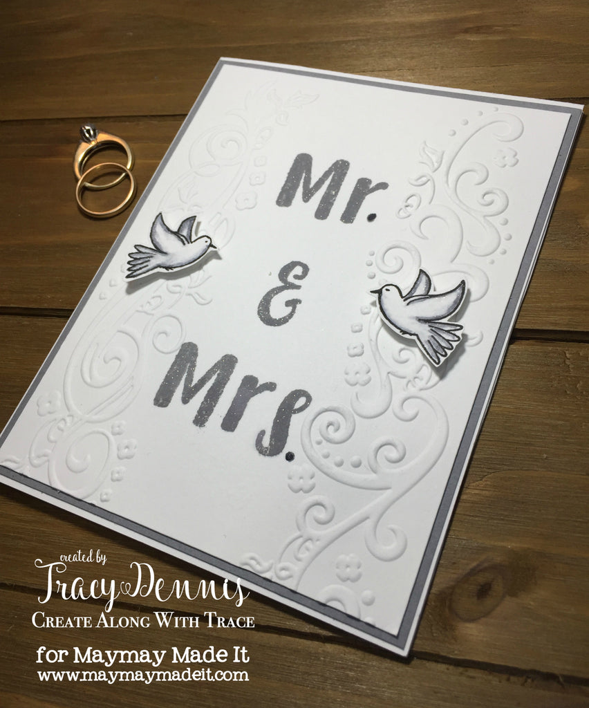 World Card Making Day- Mission InCARDible - Wedding Card
