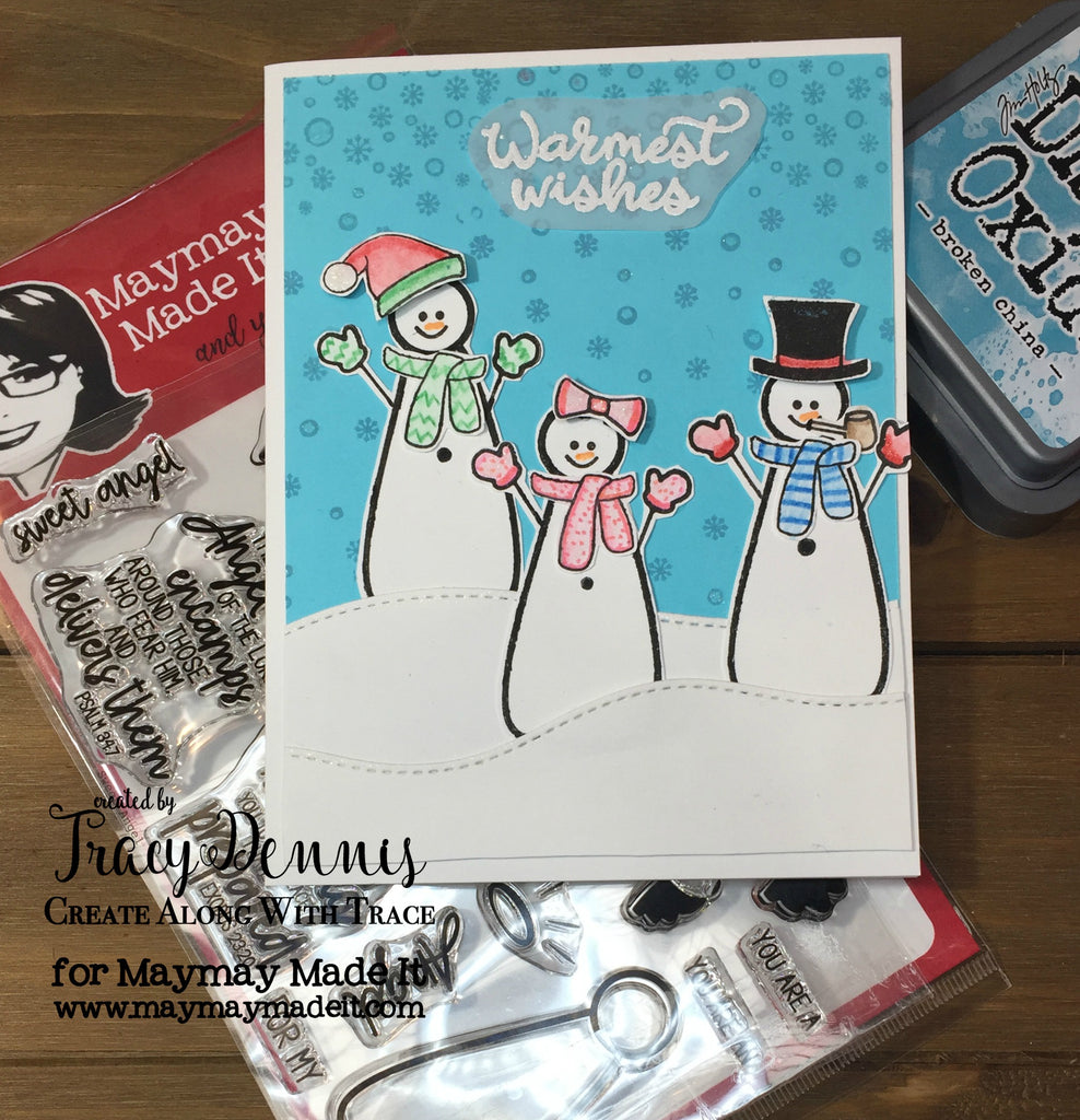 Paper Piecing  Snowman Card
