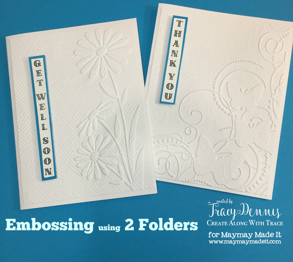 "Blog DT ""Emboss like a Boss"" Challenge  using 2-Folders"