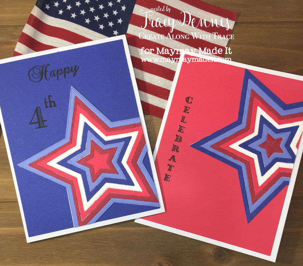 Die Cut 4th of July Card
