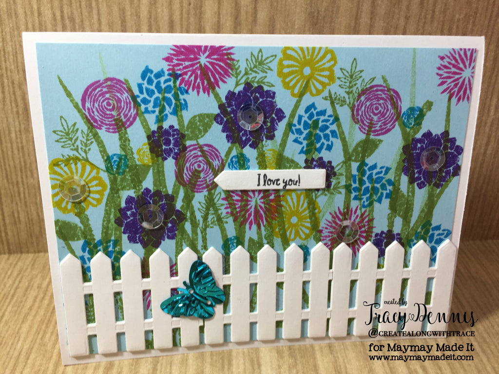 "Design Team ""May Flowers"" Challenge - Field of Flowers Card-by Tracy Dennis"