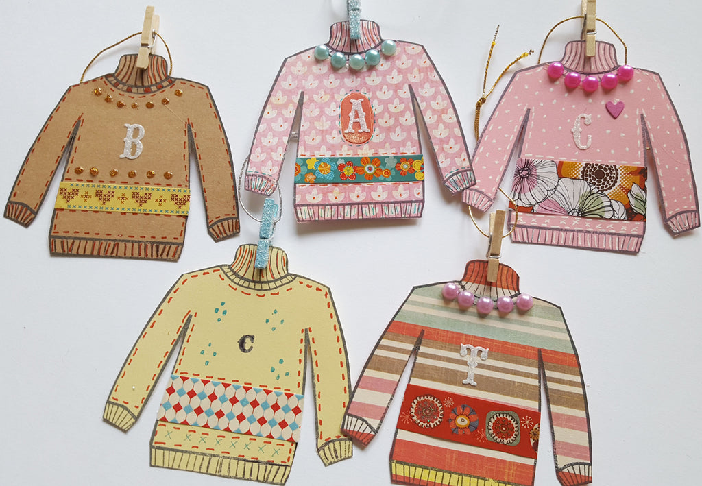 Ugly Sweater Paper Ornaments
