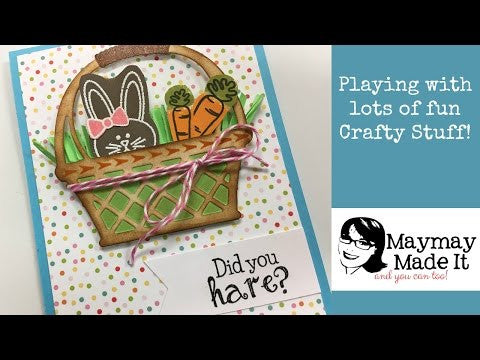 Playing around and making a card using lots of fun crafty stuff!