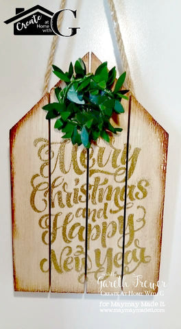 Rustic Wooden Pallet Christmas Tree Ornaments Maymay Made It