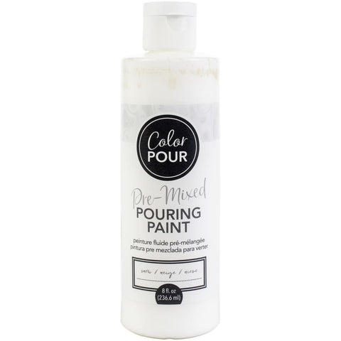 Snow Color Pour Pre-Mixed Paint 8oz retail $7.99