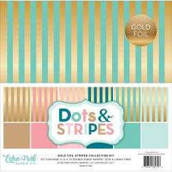 12x12 Gold Foil Stripes {B334}