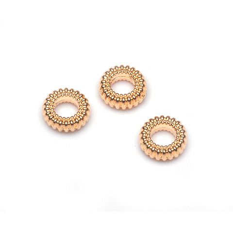 Metal Spacer Beads (Gold) {A481}