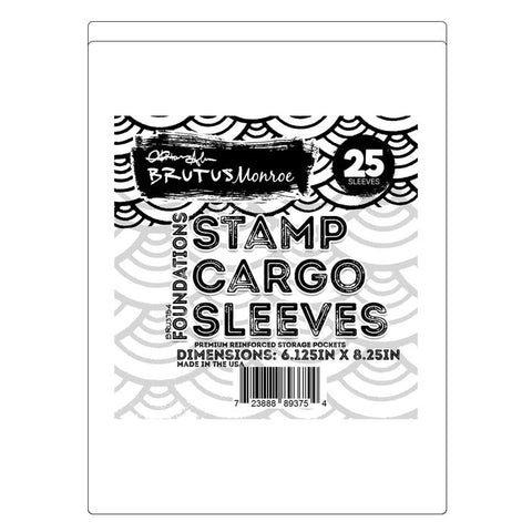 6.125 inch x 8.25 inch Stamp Cargo Sleeves -Brutus Monroe {E211}