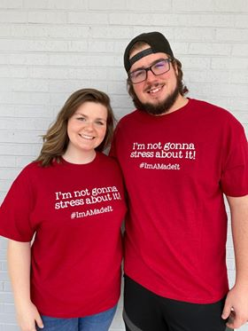 I'm Not Gonna Stress about It Tee (prices range by size $18.99- $23.99)