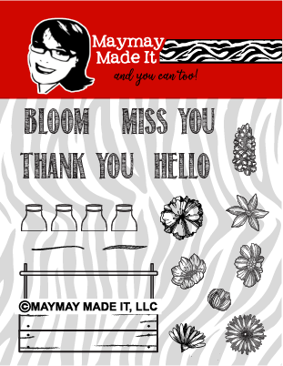 Bloom 4x4 Stamp Set {A187}