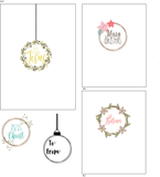 Christmas Instawreath 6x8 Clear Stamp Set $18.99