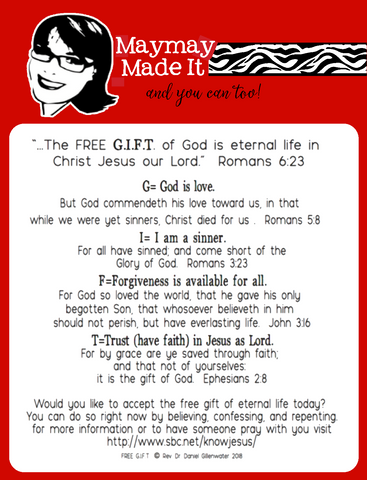 The Gift of God 4x4 clear stamp  (FREE)