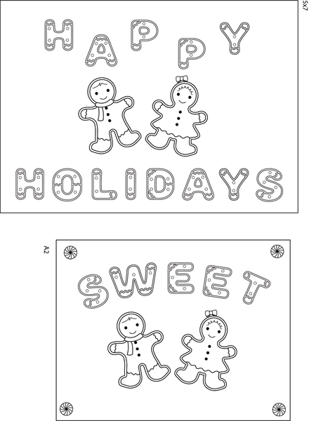 Ginger Font 6x8 Clear Stamp Set {A84}