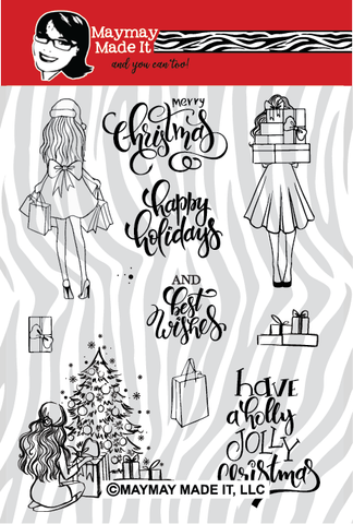 Holly in Heels  6x8 Clear Stamp Set {A182}