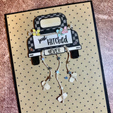 Tailgatin 4 x 6 Clear Stamp Set from Maymay Made It {A19}