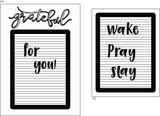 Letter Board Love 6x8 Clear Stamp Set Retail $18.99