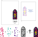 Layered Stained Glass 4x6 Stamp Set {A101}